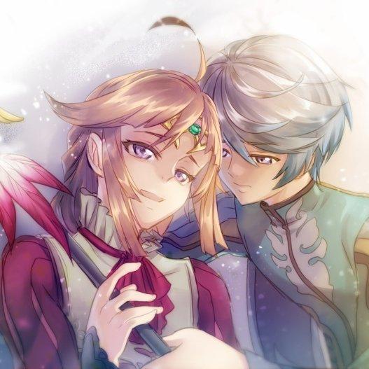 Mikleo et sa mère T^T (j'aime trop le bâton de Muse QAQ)
