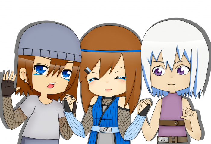 Team Delta de Kiri; Takuma, Ayumi & Suigetsu