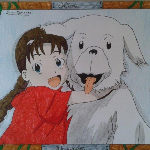 dessin de nina et alexander