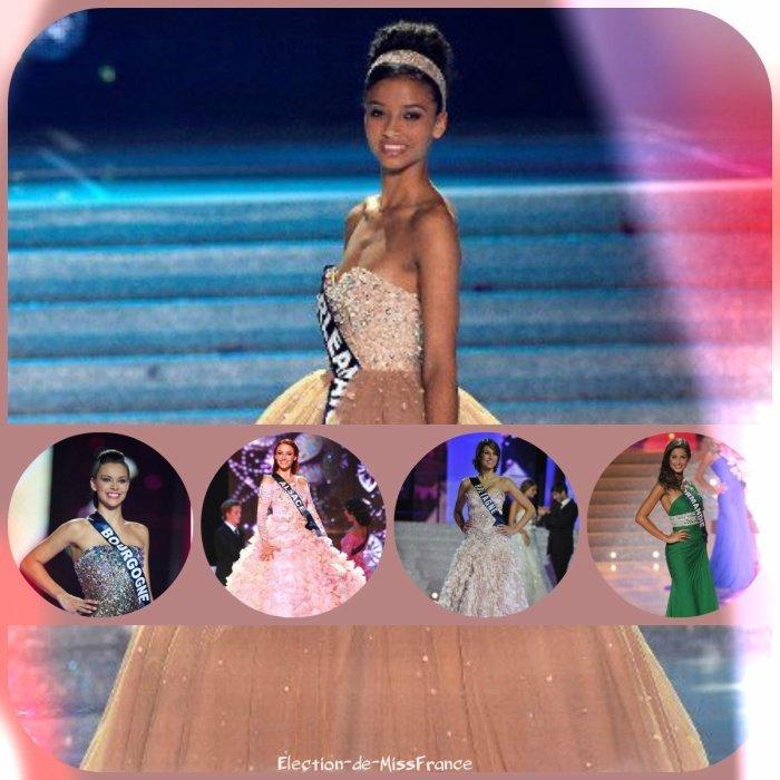 Miss France 2014, 2013, 2012, 2011 et 2010