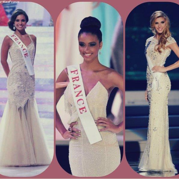 Miss France 2013, 2014 et 2015