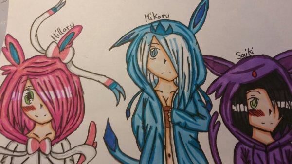 Hillary , Mikaru et Saiki - Niri-chan ♥