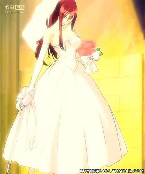 Erza, robe de mariée (La prêtresse du Phoénix)