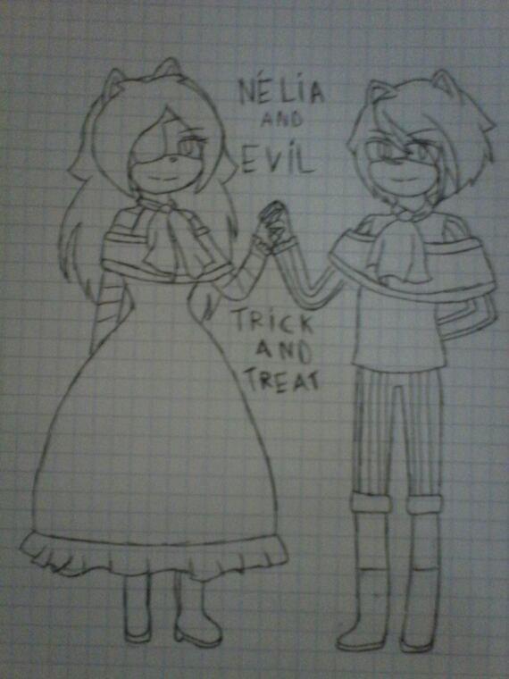 Nélia and Evil (friend)