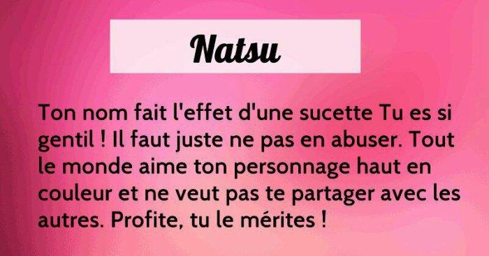Natsu is Sucette !