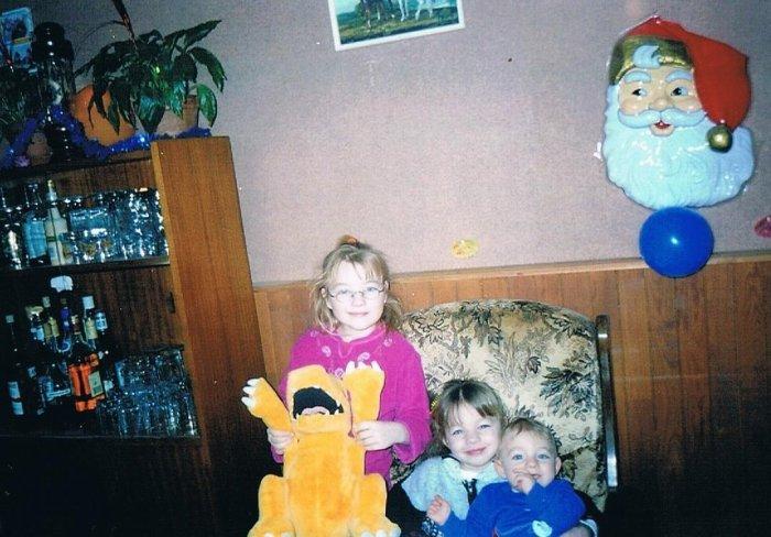 Moi avec mon frère et ma s½ur en 2003