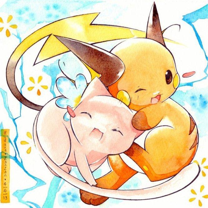 Mew & Raichu ♥