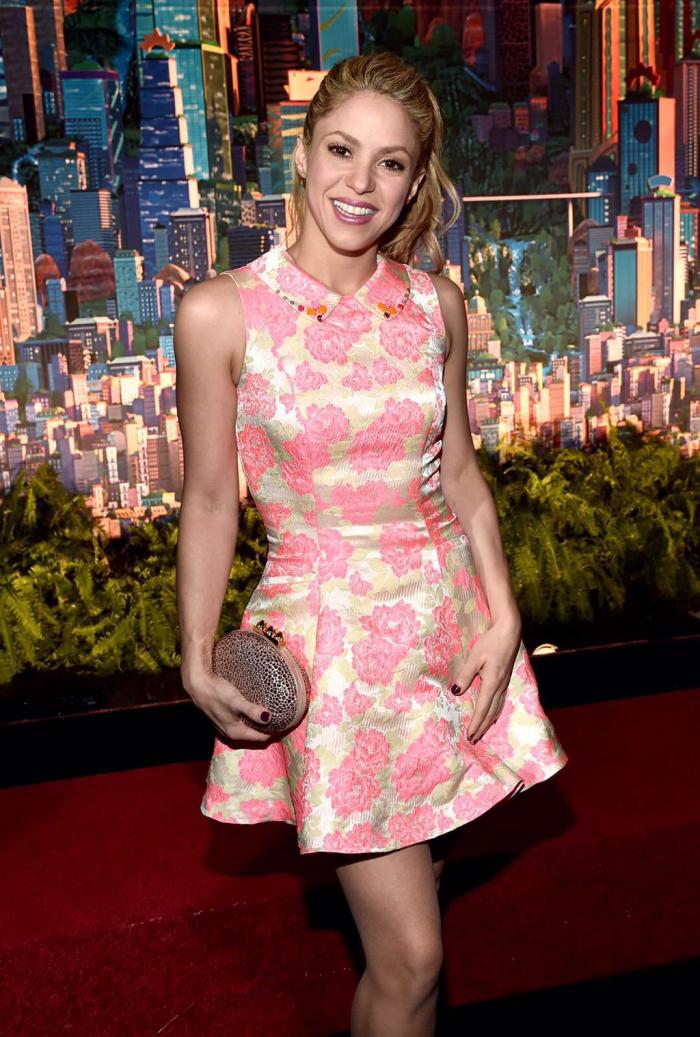17/02 Shakira à Los Angeles, pour la première de Zootopia.