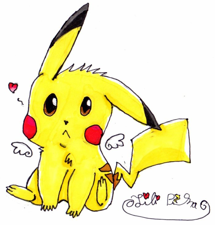 Dessin de Pikachu de moi.