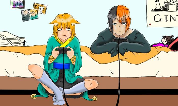 Leïra et Eiji (pour gif)