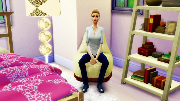 Yéléna - dans sa chambre