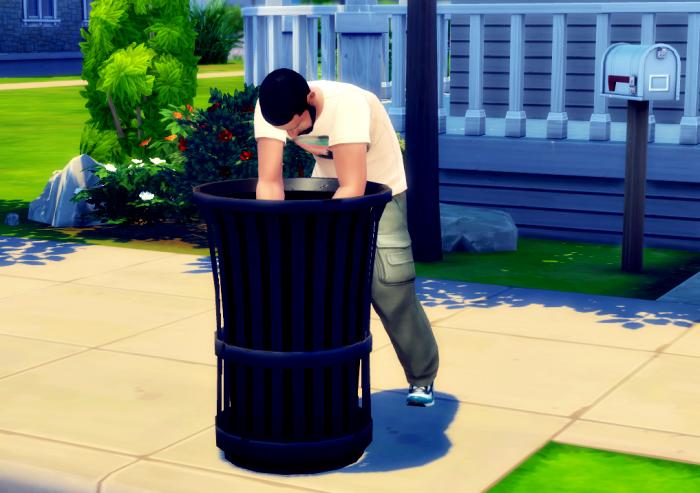 Le voisin qui fouille les poubelles ... tout va bien :')