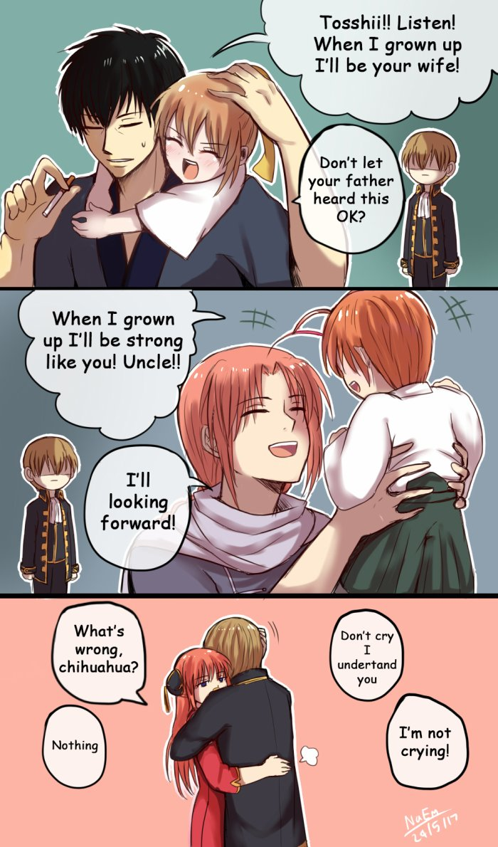 Les futurs enfants de Kagura et Okita xD