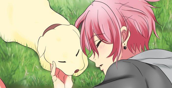 Petit Nao avec son chien qui a pas encore de nom xD
