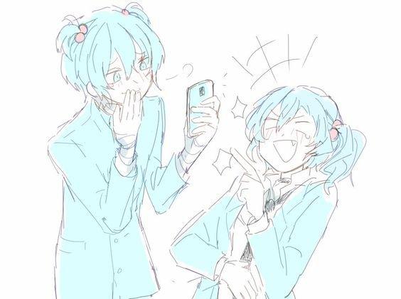 Dazai et Chuuya...avec des couettes