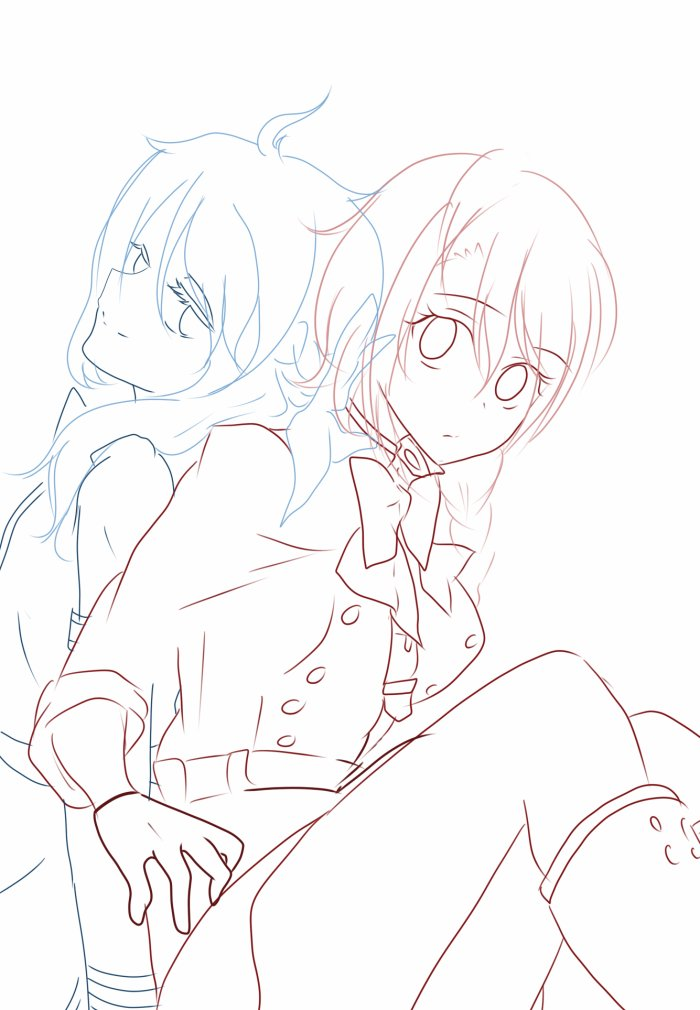WIP Brouillon cadeau Akira et Sada ♥