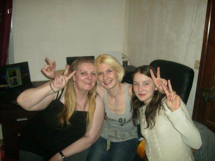 Moi ma fille Céline et ma futur belle fille Lindsay