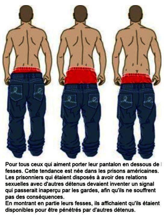Pantalon en-dessous des fesses