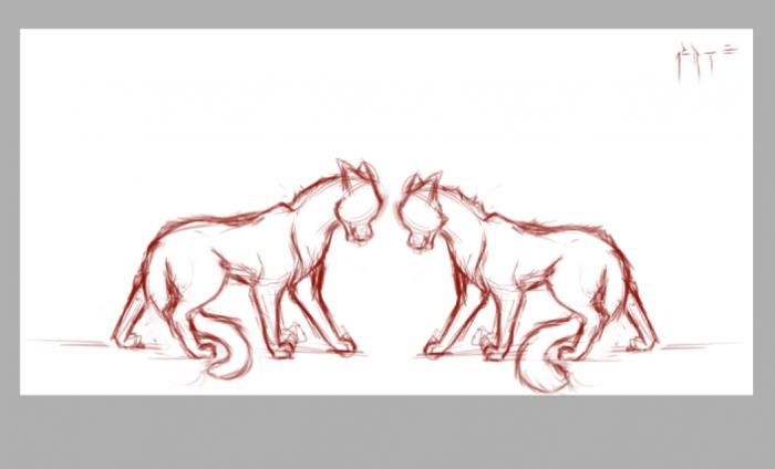 Perso chats en cours..(ils seront jumeaux^^)