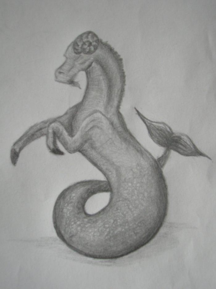 Capricorne (un dessins papier ça faisait longtemps ^^)