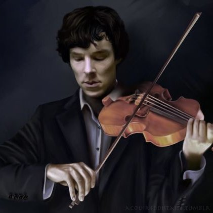 Sherlock au violon *^*