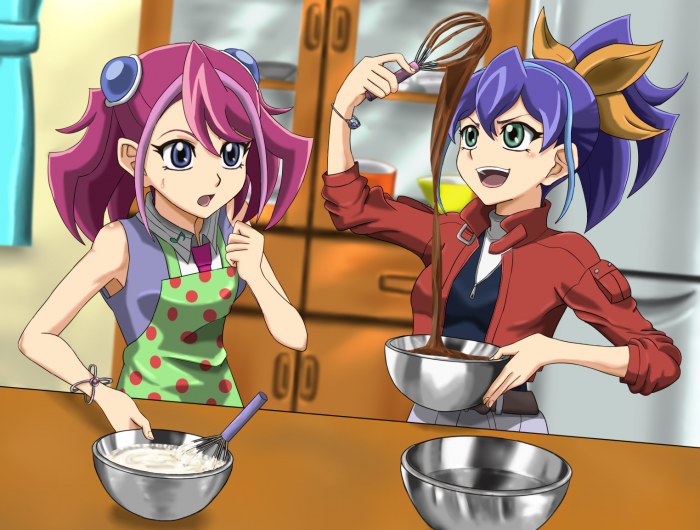 Taiyou Hikari et Takahashi Kirara en pleine pâtisserie
