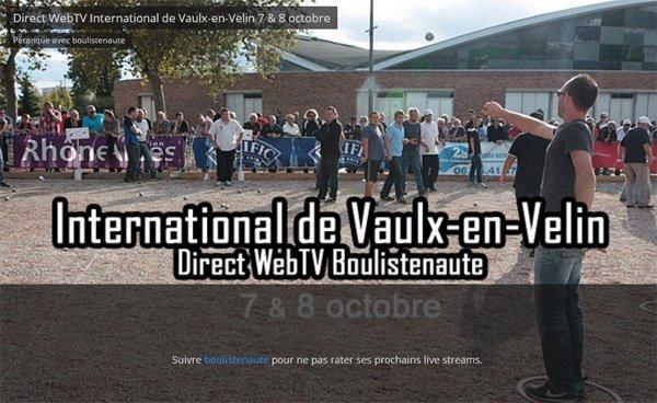 International de Vaulx-en-Velin avec WebTV -