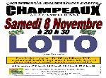 """Annonce """"LOTO du 8 Novembre 2014 à CHAMPEAUX (77720)"""""""