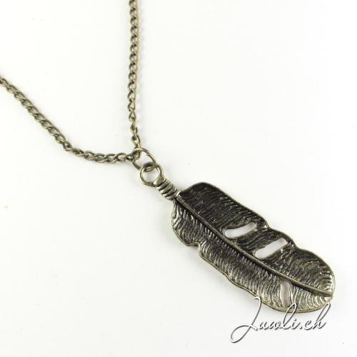 Federkette in bronze — Modeschmuck günstig online