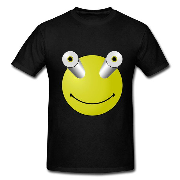 Frog Eyes Bulging Black Heavyweight T-shirt For Men on Sale-Funny T-shirts |HICustom