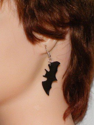 Boucle d'oreille Chauve-souris en fimo Argent 925 : Boucles d'oreille par jl-bijoux-creation