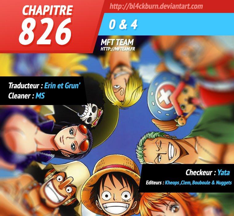 One Piece :: Chapitre 826 :: MFTeam Online
