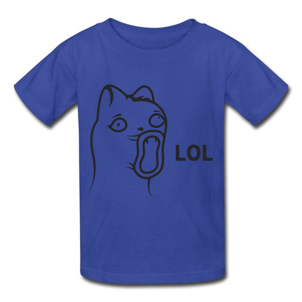 Design Humorous Lol Laugh Royal Blue 7600b T-shirt For Kid Top Rated-Geek T-shirts |HICustom