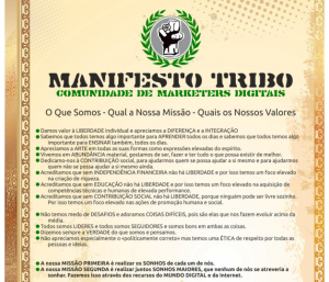 Manifesto Tribo - Comunidade de Marketers Digitais