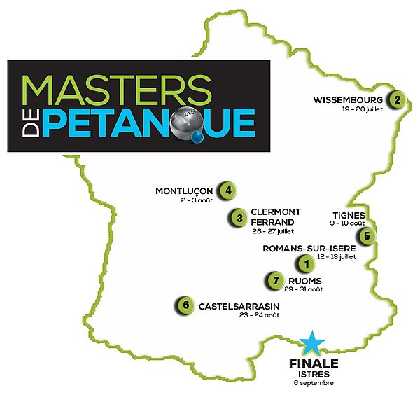 MASTERS DE PETANQUE.ETAPE 6.