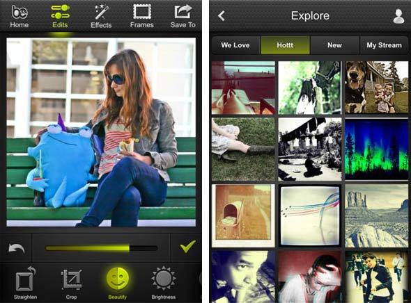 BeFunky, une alternative complète à Instagram sur Android et iOS