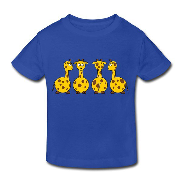 Make Your Own Lovely Cartoon Giraffe Royal Blue Toddler T-shirt For Toddler High Quality-Funny Kids & Babies |HICustom