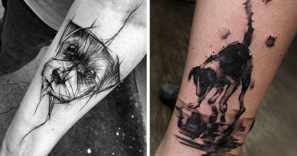 20 idées tatouages pour les fans de chiens - Koalol