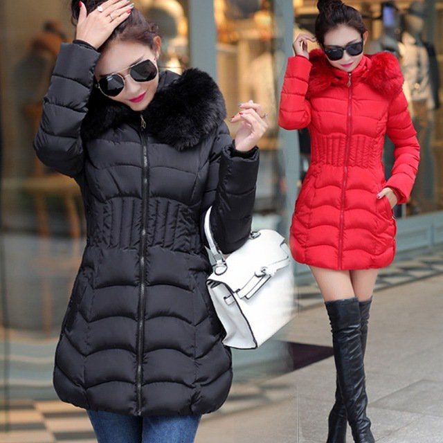 Skyesky New Korean Style Winter Warm Wadded Parkas Fashion Hooded Zipper Long Jackets Female Coat 4XL Casacos Mujer SK059-in Parkas from Women's Clothing & Accessories on Aliexpress.com | Aliba...