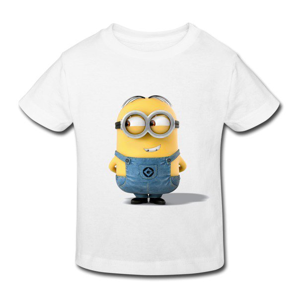 Minions Mark Looking Right White Toddler T-shirt For Toddler on Sale-Art & design Kids & Babies |HICustom