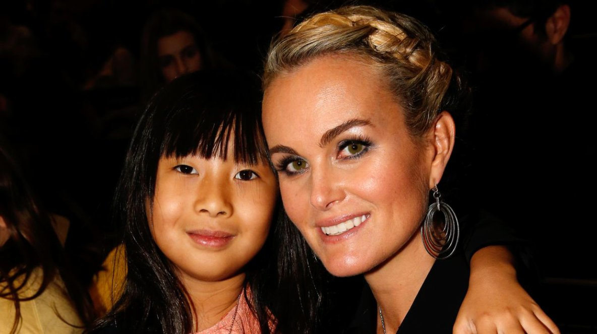 Laeticia Hallyday et sa fille Jade