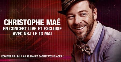 Christophe Maé en concert Live et Exclusif avec NRJ