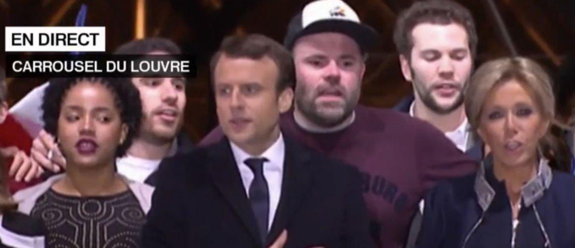 Qui était l'homme à la casquette qui s'est glissé derrière Brigitte et Emmanuel Macron au Louvre ? (VIDÉO)