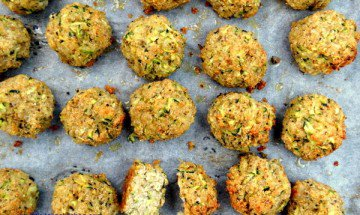 Zucchini Parmesan Balls - Healthy Food Society