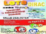 Annonce 'Loto au profit du télèthon'