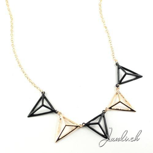 Modekette mit Dreiecke — kaufen Schmuck online kostenlos Versand