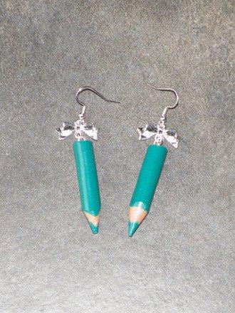 Boucle d'oreille Crayon de couleur en fimo Argent 925 : Boucles d'oreille par jl-bijoux-creation