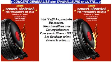 29 mars: Concert généralisé des travailleurs en Lutte - de Goodyear et d'ailleurs / Amiens