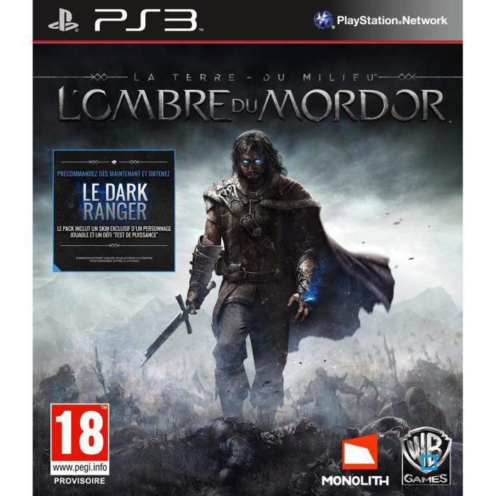 La Terre du Milieu L'ombre du Mordor PS3 Jeu PlayStation 3