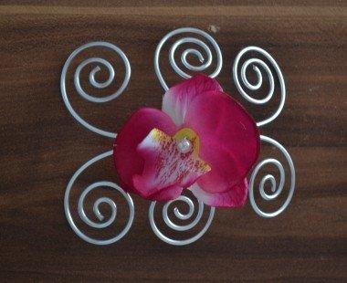 Bijou de coiffure Orchidée : Accessoires coiffure par changeline-crea sur ALittleMarket